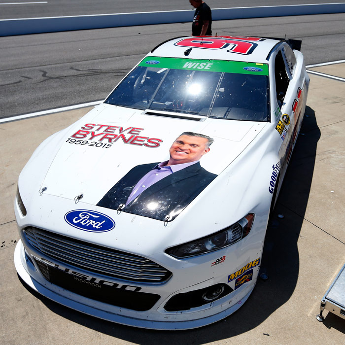 Many race teams at Richmond this weekend are remembering Steve Byrnes, a popular long-time broadcaster who passed away earlier this week (photo - NASCAR via Getty Images)