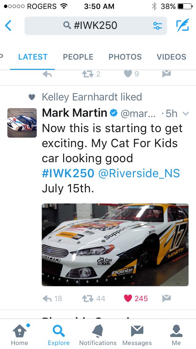 Sneak Peak – Mark Martin\'s Race Car for the IWK 250 ...